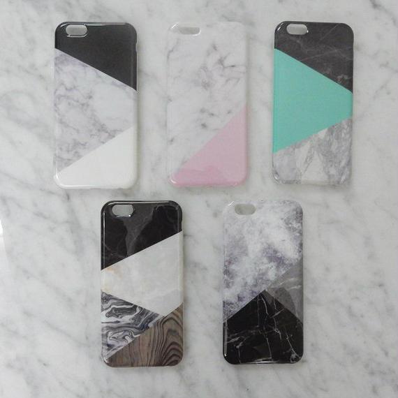 iphone-02069 送料無料! ミックス 大理石 天然石 iPhoneケース