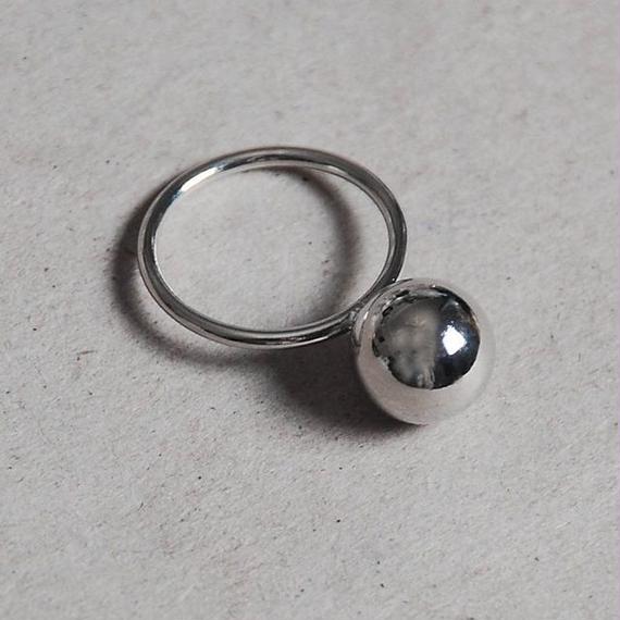 ring-02028 送料無料! 一粒10mmメタルボールリング ゴールド・シルバー 11号