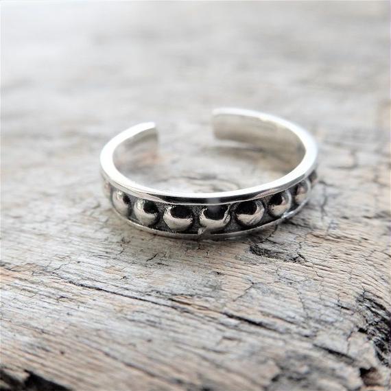 ring-02150 送料無料!SV925 ボールスタッズ シルバーリング 幅3,5mm 7号から上にサイズ調整可能