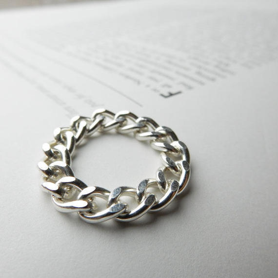 ring-02101 送料無料!SV925 シルバーチェーンリング 5mm幅 8号・11号・15号 金属アレルギー対応素材 ☆ WA04