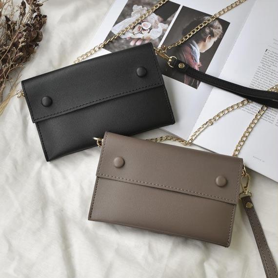 wallet-02021 スクエアデザイン お財布ポシェット クラッチバッグ