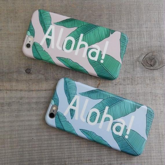 iphone-02185 送料無料! Aloha! リーフハワイアン iPhoneケース
