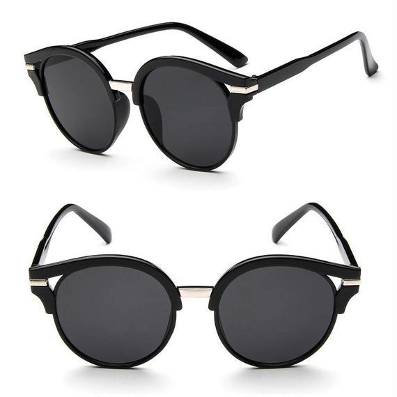 sunglasses-02018 タイプ2 ブラック×シルバー金具