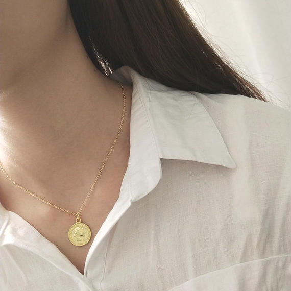necklace2-02008 送料無料! SV925 コインチャームネックレス
