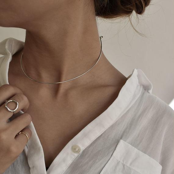 necklace2-02020 送料無料! SV925 ネックチョーカーカフ アジャスター付き シルバー925