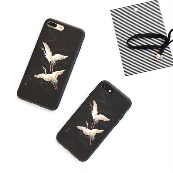 iphone-02245 送料無料! 鶴デザイン iPhoneケース