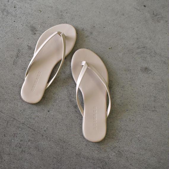 shoes-02012  送料無料! フェイクレザートングサンダル ベージュ ブラック