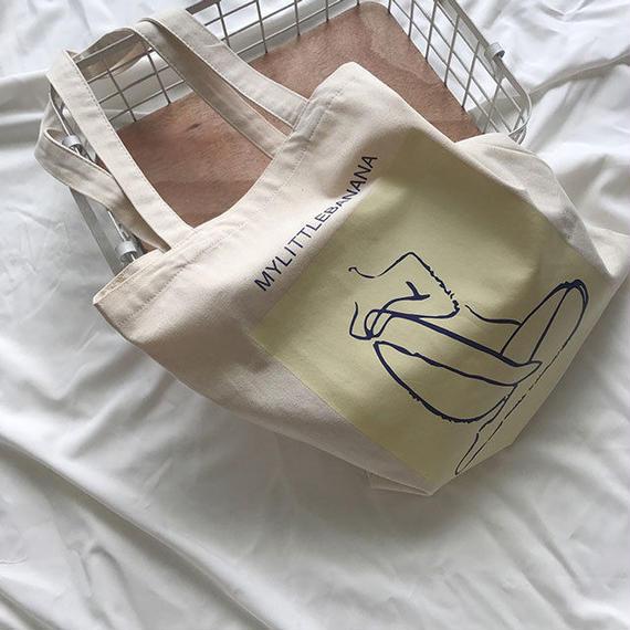 bag2-02392 送料無料! MYLITTLEBANANA トートバッグ エコバッグ
