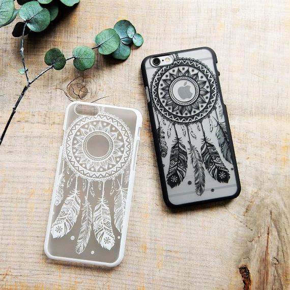 iphone-02298 送料無料! ドリームキャッチャー ブラック ホワイト iPhoneケース