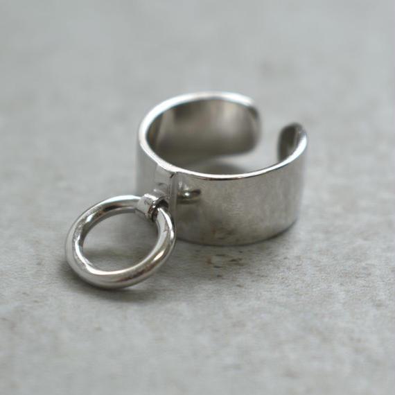 ring-02136 送料無料!SV925 リング付きワイドシルバーリング 幅9mm 12号から上にサイズ調整可能