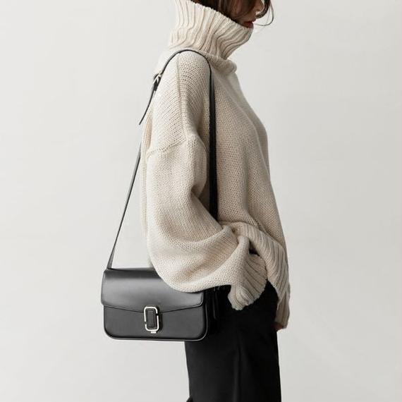 bag2-02143 オーバル金具 ボックスバッグ ショルダーバッグ