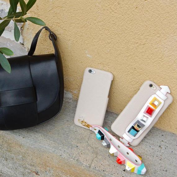 iphone-02262 送料無料! ベージュ スタッズ付きベルトストラップ   iPhoneケース