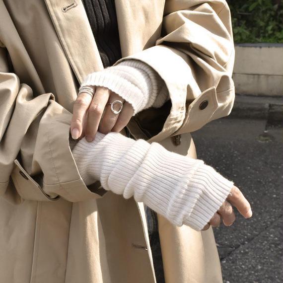 gloves-02001 送料無料! リブアームウォーマー オフホワイト ベージュ ブラウン グレー モカ スモーキーブラウン