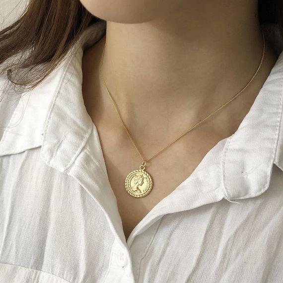 necklace2-02009 送料無料! SV925 タイプ2 コインチャームネックレス