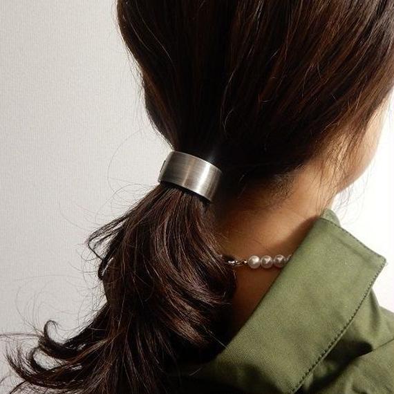 hair-02053 送料無料! ヴィンテージ加工メタルヘアカフス メタルヘアリング ヘアクリップ ヘアゴム ヘアポニー リングポニー アンティークゴールド アンティークシルバー