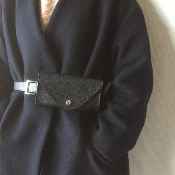 bag2-02273 ベルト付きウエストバッグ K ウエストポーチ ベルトバッグ