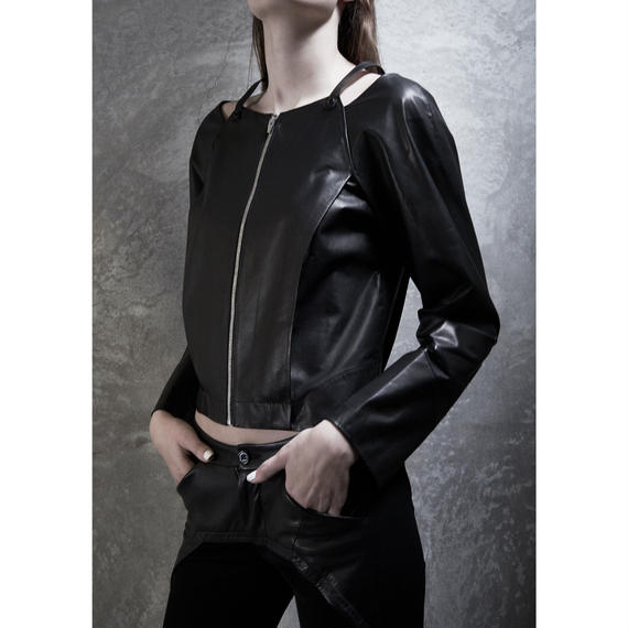 SQUARE LEATHER JACKET