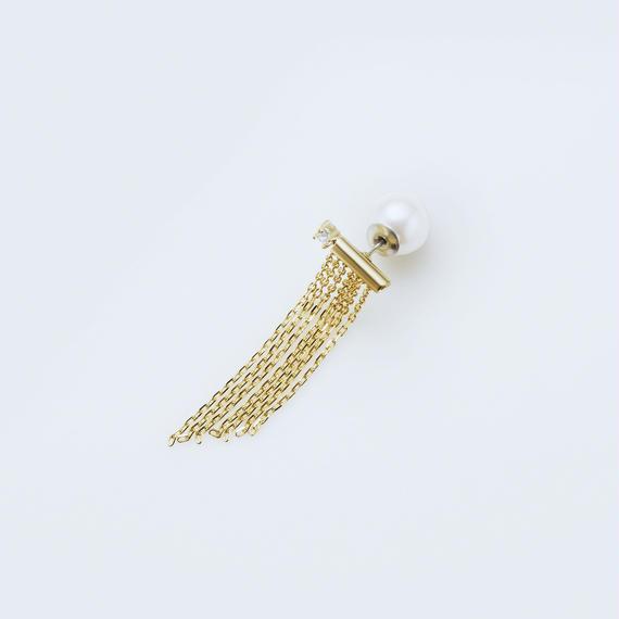 fringe pierce (long / gold)