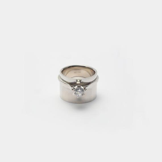 ring motif ring (cubic zirconia / silver)