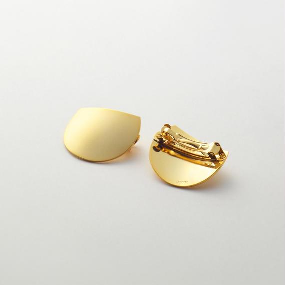 moon hair jewelry (40mm three quarter moon/ mat gold)