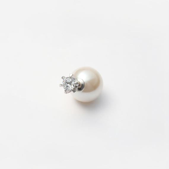 cubic zirconia pierce (large / silver)