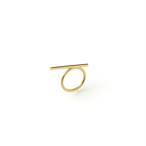 bar ring (30mm bar / gold)