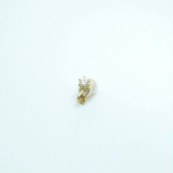 cubic zirconia earing(small/gold)