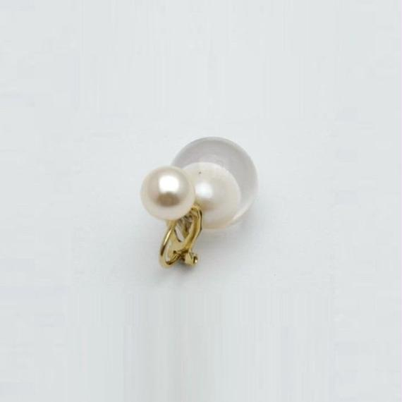 inclusion earring(white inclusion catch)