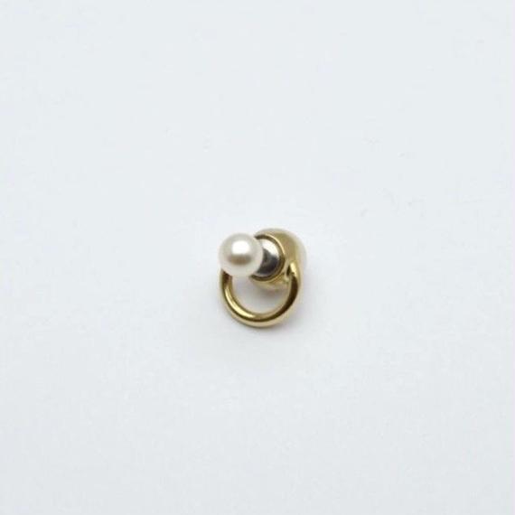hoop catch pierce(pearl/12mm hoop/gold)