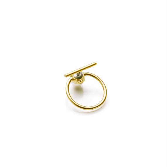 hoop catch pierce (20mm bar / 24mm hoop / gold)