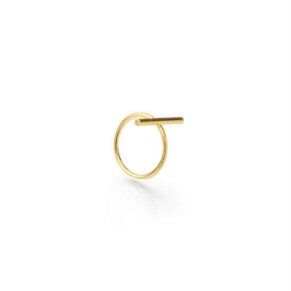 bar ring (20mm bar / gold)