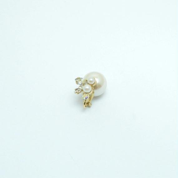 bijoux earring(pearl×swarovski/small)