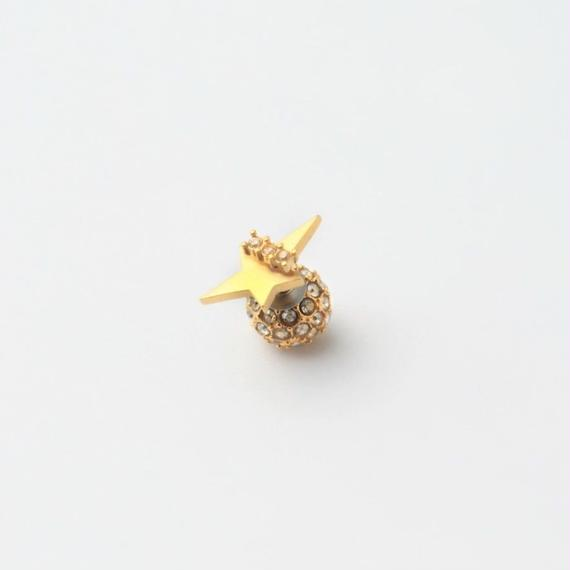 2way star pierce (front type/cubic zirconia/10mm paveball catch)