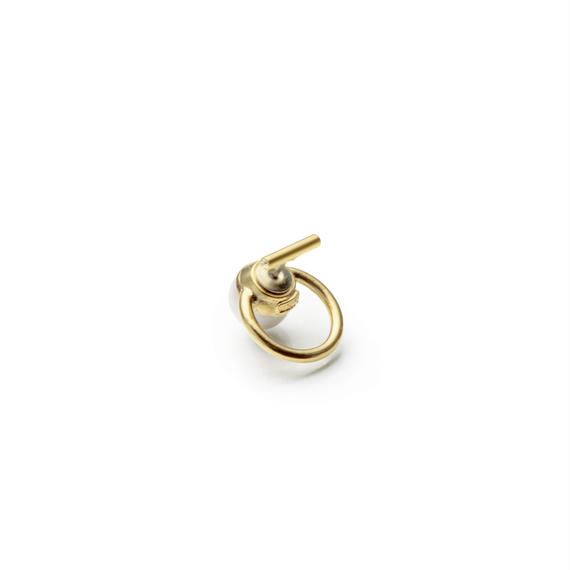 hoop catch pierce (10mm bar / 16mm hoop / gold)