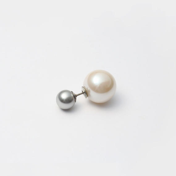 basic pearl rivets (8mm light grey pearl × 14mm white pearl)