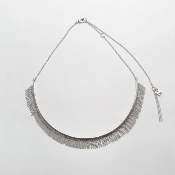 Fringe Necklace(Round type/Silver)