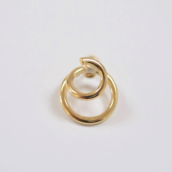 double hoop earring (gold)