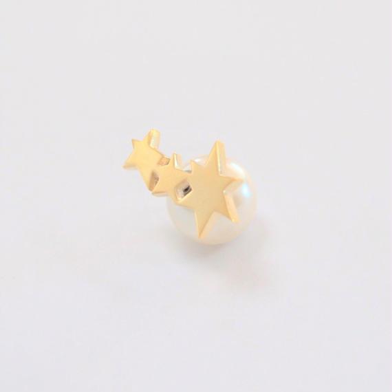 3 star pierce (small/ gold)