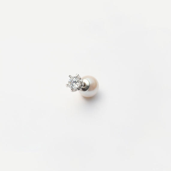 cubic zirconia pierce (small / silver)