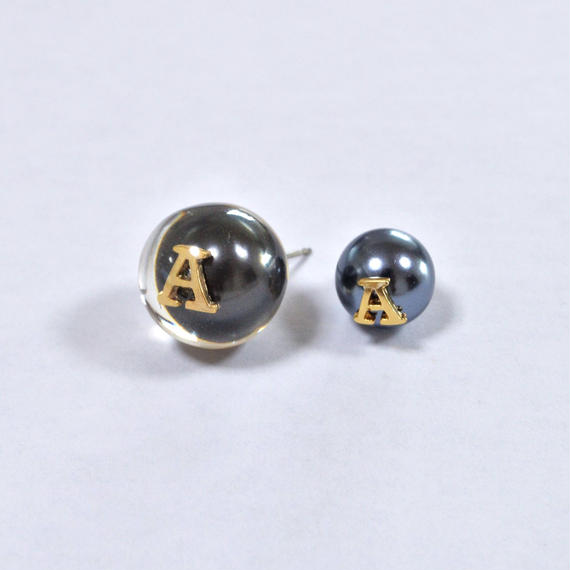 "Initial pierce black ""A"""
