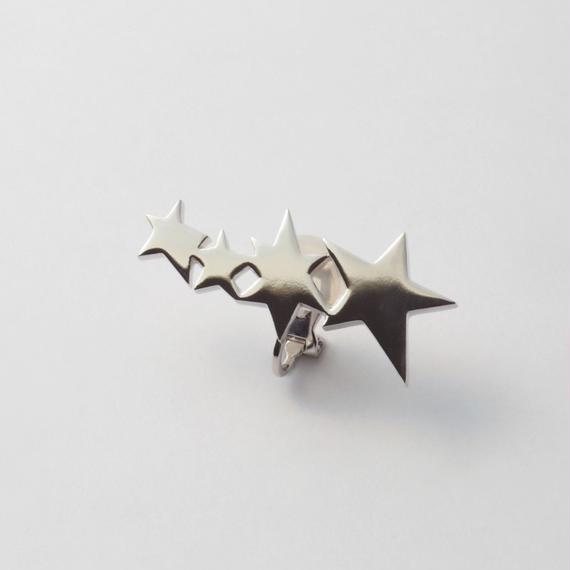 4 stars earring (silver)