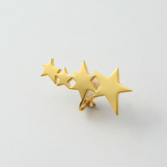 4 stars earring (gold)