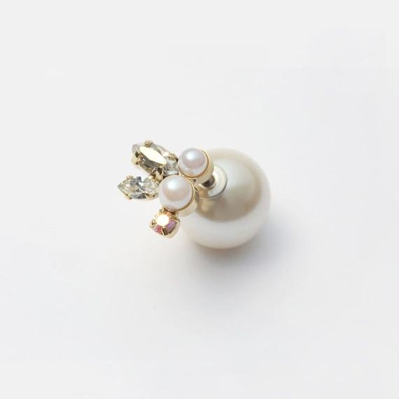 bijoux pierce (pearl×swarovski / small)