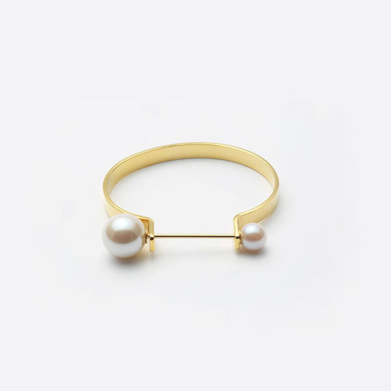 tiepin bangle (6mm / gold)
