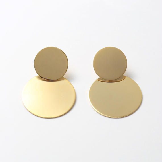 big circle set pierce(mat gold/shine gold)