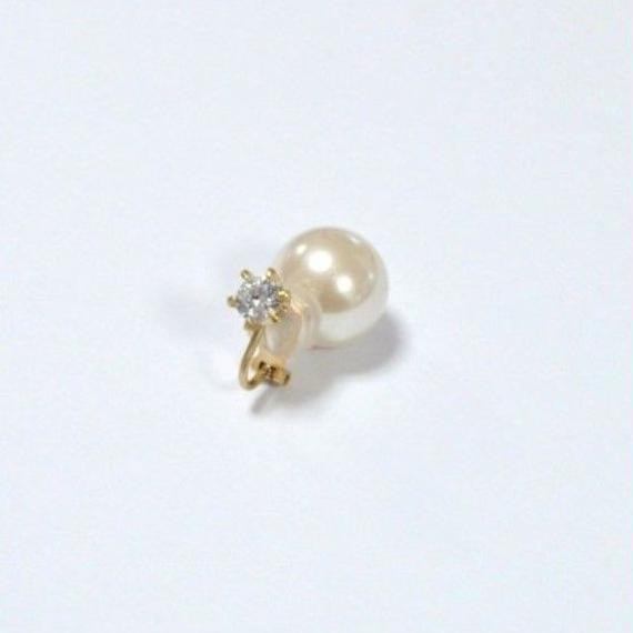 cubic zirconia earring(large/gold)