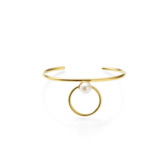 hoop bangle (24mm hoop / gold)