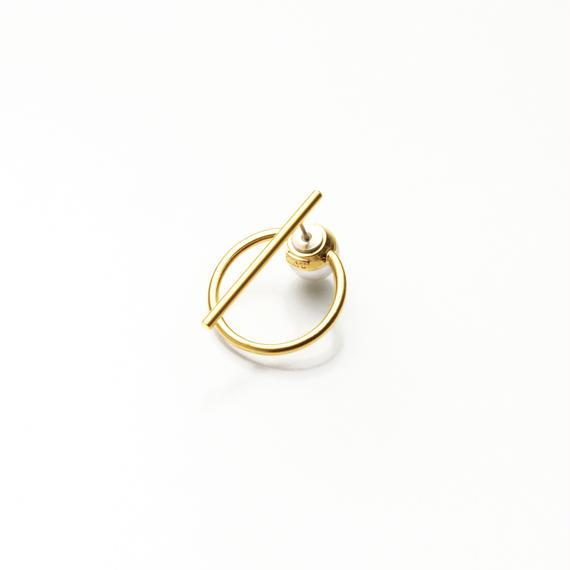hoop catch pierce (30mm bar / 24mm hoop / gold)