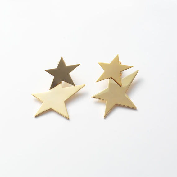 big star set earring (mat gold/shine gold)