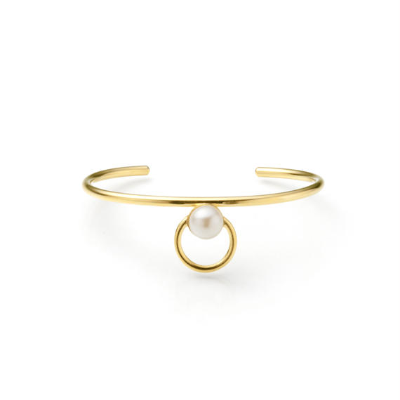 hoop bangle (16mm hoop / gold)